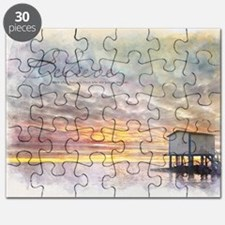 Watercolor Inspirational Poster: Believe Puzzle