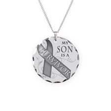 My Son is a Survivor (grey) Necklace