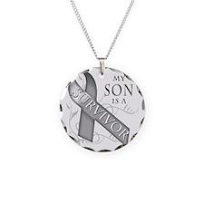 My Son is a Survivor (grey) Necklace Circle Charm
