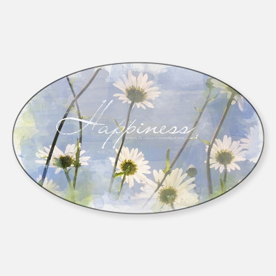 Watercolor Inspirational Poster: A  Sticker (Oval)