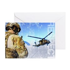 Military Grunge Poster: Respect. A p Greeting Card