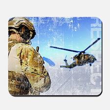 Military Grunge Poster: Respect. A parar Mousepad