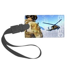 Military Grunge Poster: Respect. Luggage Tag