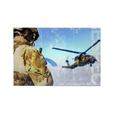Military Grunge Poster: Respect.  Rectangle Magnet
