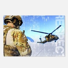 Military Grunge Poster: R Postcards (Package of 8)