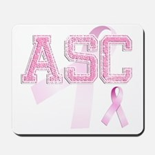 ASC initials, Pink Ribbon, Mousepad