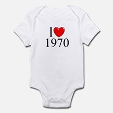 """I Love 1970"" Infant Bodysuit"