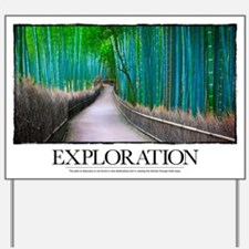 Inspirational Poster: The path of discov Yard Sign