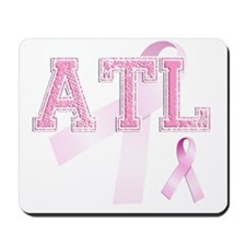 ATL initials, Pink Ribbon, Mousepad