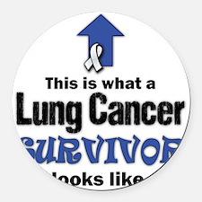 Lung Cancer Survivor (lt) Round Car Magnet