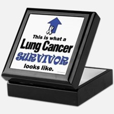 Lung Cancer Survivor (lt) Keepsake Box