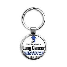 Lung Cancer Survivor (lt) Round Keychain
