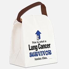 Lung Cancer Survivor (lt) Canvas Lunch Bag