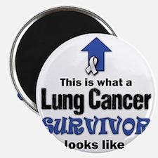 Lung Cancer Survivor (lt) Magnet