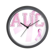 AUC initials, Pink Ribbon, Wall Clock