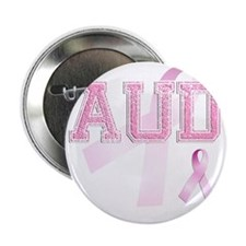 """AUD initials, Pink Ribbon, 2.25"""" Button"""