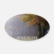 Inspirational Poster: Every great  Oval Car Magnet