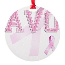 AVO initials, Pink Ribbon, Ornament