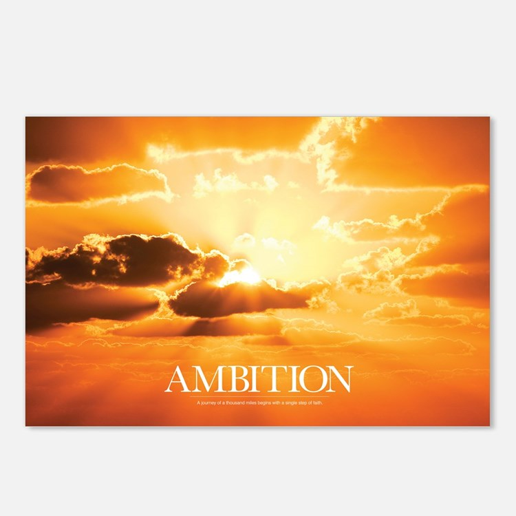 Inspirational Poster: A J Postcards (Package of 8)