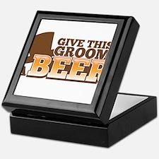 Give this GROOM a Beer Keepsake Box