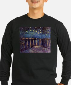 Starry Night Over The Rhone Lng Sleeve Drk T-Shirt