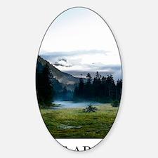 Inspirational Motivational Poster:  Sticker (Oval)
