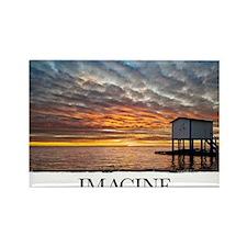 Inspirational Motivational Poster Rectangle Magnet