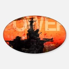 Military Grunge Poster: Power. The  Decal