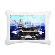 Military Grunge Poster:  Rectangular Canvas Pillow