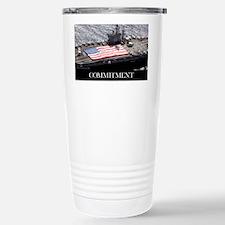 Motivational Poster: USS Nimitz Travel Mug