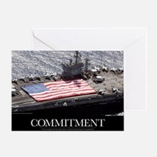 Motivational Poster: USS Nimitz Greeting Card