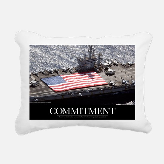 Motivational Poster: USS Rectangular Canvas Pillow