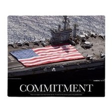 Motivational Poster: USS Nimitz Throw Blanket