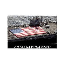 Motivational Poster: USS Nimitz Rectangle Magnet