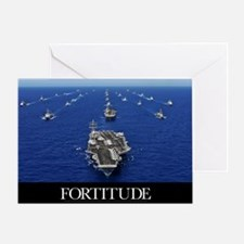 Motivational Poster: USS Ronald Reag Greeting Card
