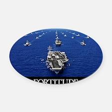 Motivational Poster: USS Ronald Re Oval Car Magnet