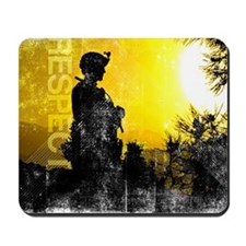 Motivational Grunge Poster: Respect. U.S Mousepad