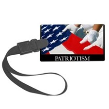 Motivational Poster: US Flag Luggage Tag