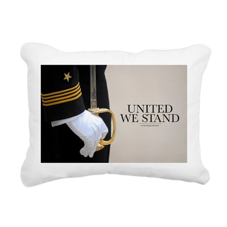 Military Poster: United Rectangular Canvas Pillow