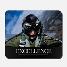 Military Poster: Self-portrait of a pilo Mousepad