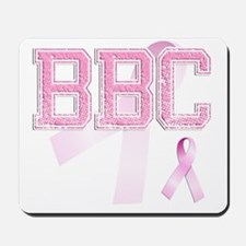 BBC initials, Pink Ribbon, Mousepad