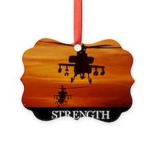Military Poster: Four AH-64 Apach Ornament