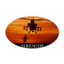 Military Poster: Four AH-64  Wall Decal