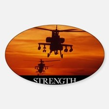 Military Poster: Four AH-64 Apache  Decal