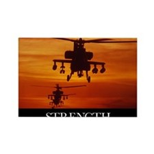 Military Poster: Four AH-64 Apach Rectangle Magnet