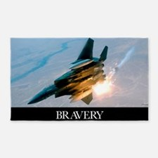 Military Poster: Brave men stand ta 3'x5' Area Rug