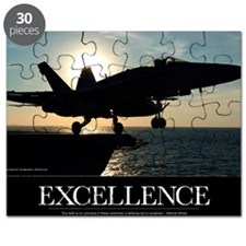 Military Poster: An F/A-18C Hornet launches Puzzle