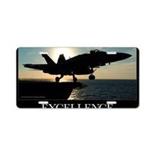 Military Poster: An F/A-18C Aluminum License Plate