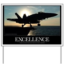 Military Poster: An F/A-18C Hornet launc Yard Sign