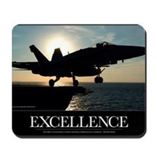 Military Poster: An F/A-18C Hornet launc Mousepad